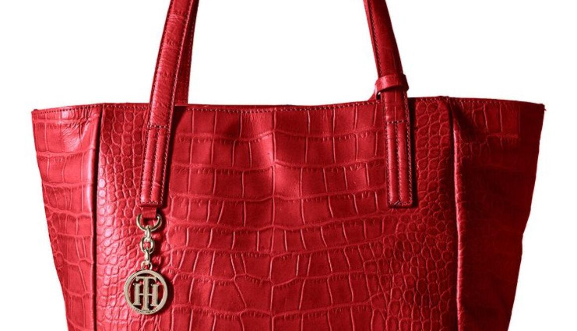 Tommy Hilfiger Claire Croco Tote Bag