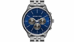 Michael Kors Sutter Gunmetal with Navy Dial